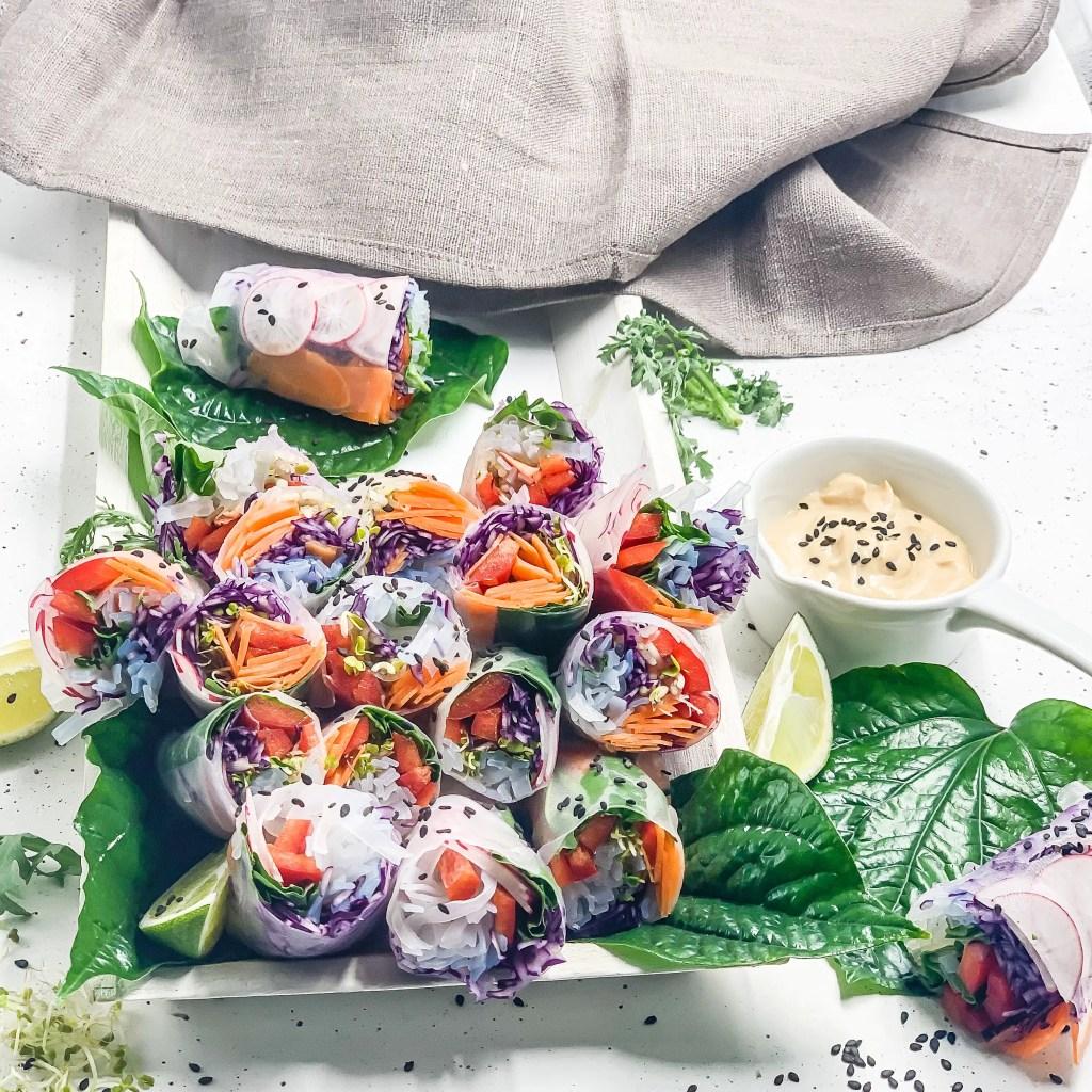 Vegane Summerrolls mit Erdnussdip
