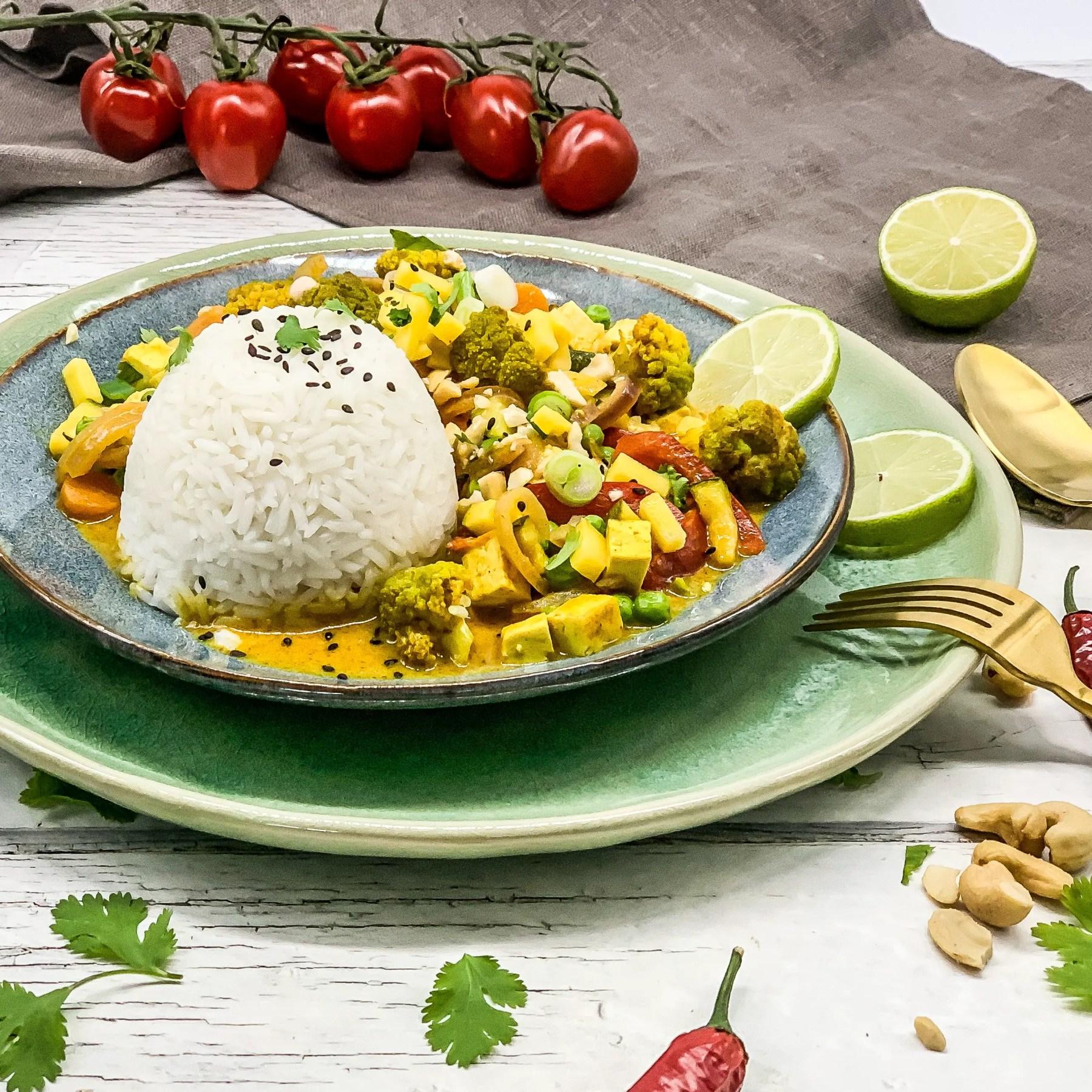 Ofencurry mit Reis