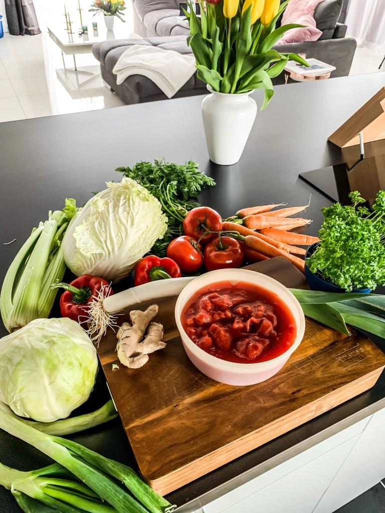 Gemüse für die Kohlsuppe