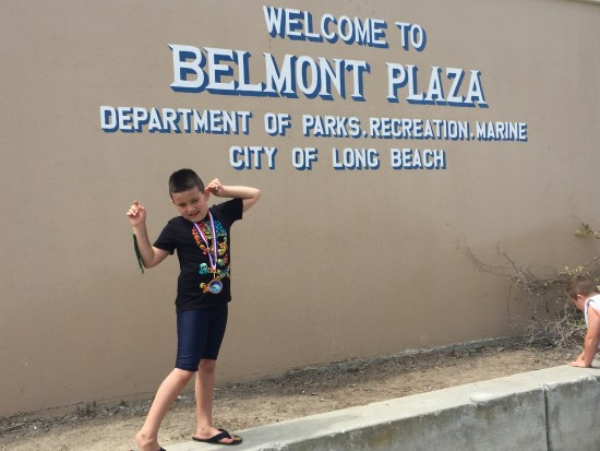 1st swim meet at Belmont Plaza in Long Beach