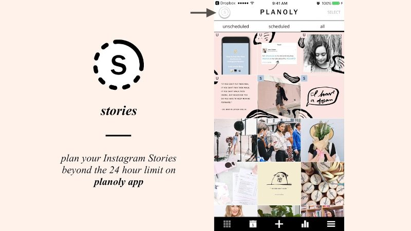 Planoly: toll per programmare le storie su Instagram