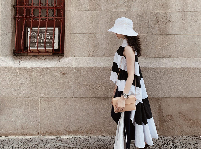 #OOTD 010|2019 衣櫥計畫之三:Zara 棉質洋裝、Kamaro'an 手袋、Miista 編織穆勒鞋