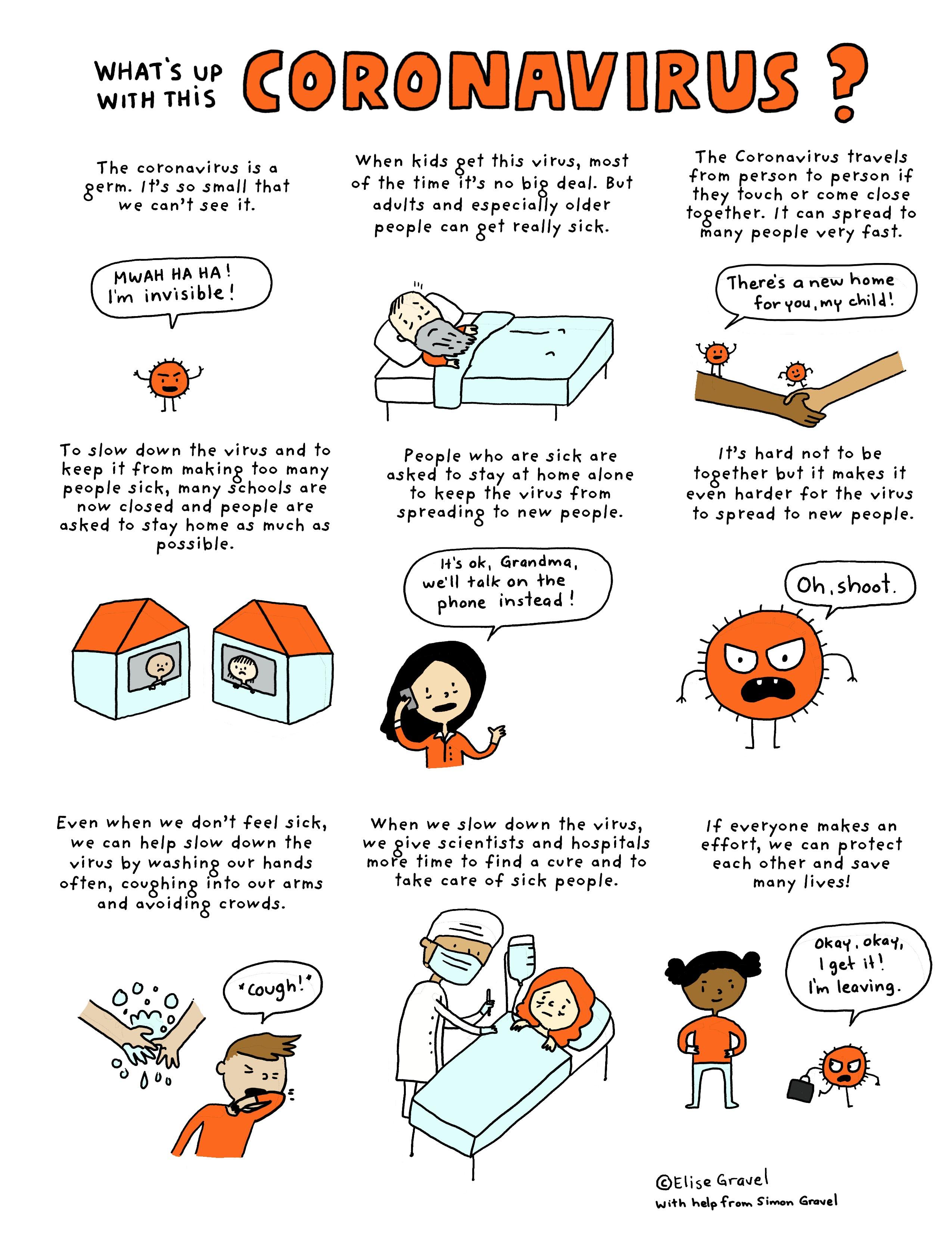 Coronavirus Free Printable Comic For Kids