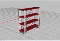 Iteration of Shelving Design - Rhino