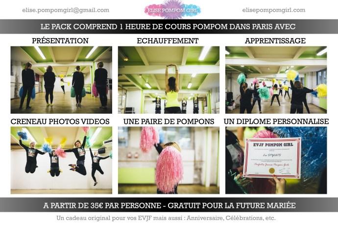 EVJF Cours de Danse Pompom Girl privé fun idée originale Paris Enterrement de Vie de Jeune Fille