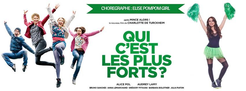 Film Qui C'est Les Plus Forts Chorégraphe Pom pom Girls Elise Pompom Girl