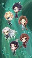 Fanart på karaktärer från Final Fantasy VII Crisis Core. Digital. 2012