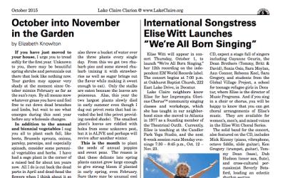 "International Songstress Elise Witt Launches ""We're All Born Singing"""