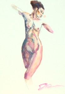 "Figure 7, 5""x7"", watercolor on claybord, ©ElishaDasenbrock2016"