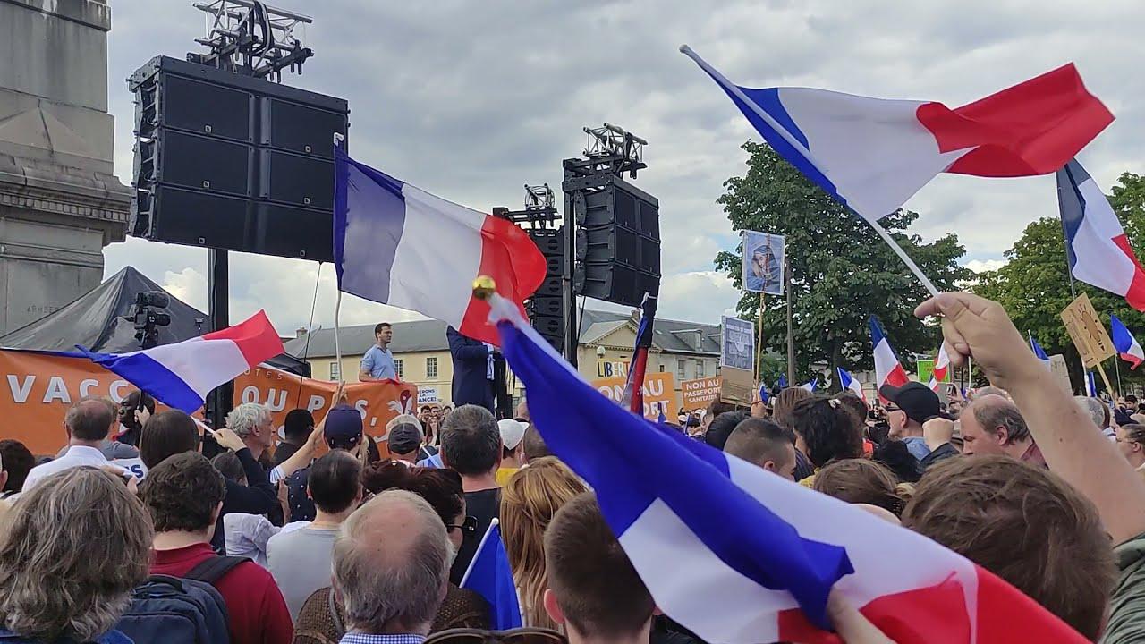 HISTORIQUE. Discours de Florian Philippot Manifestation contre le Pass Sanitaire le 31 juillet 2021