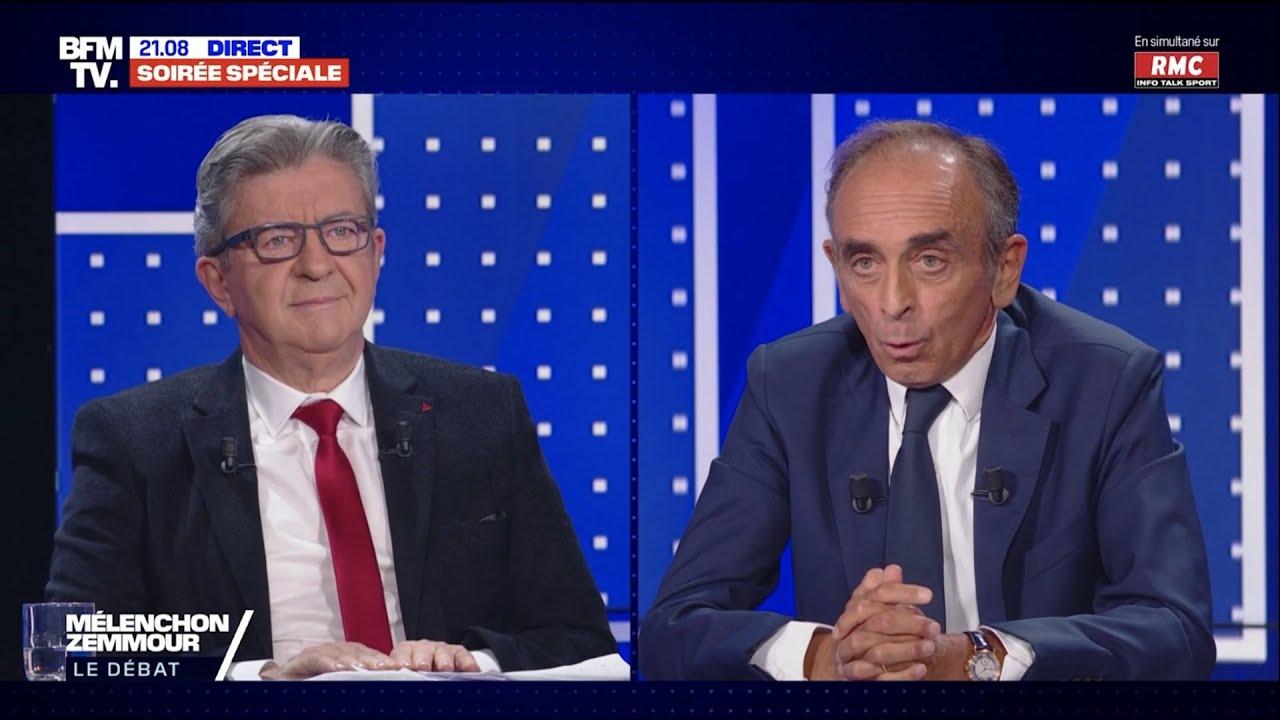 Débat Mélenchon VS Zemmour – Le replay
