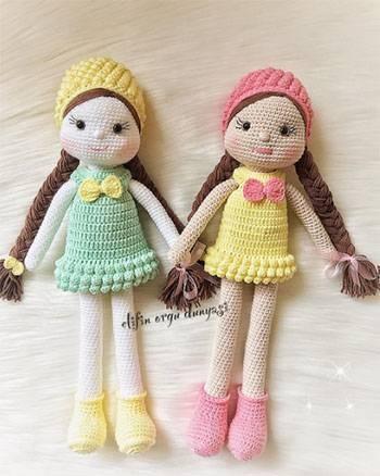 Amigurumi Bebek Elbise Yapımı | Bebek elbiseleri, Amigurumi ... | 438x350