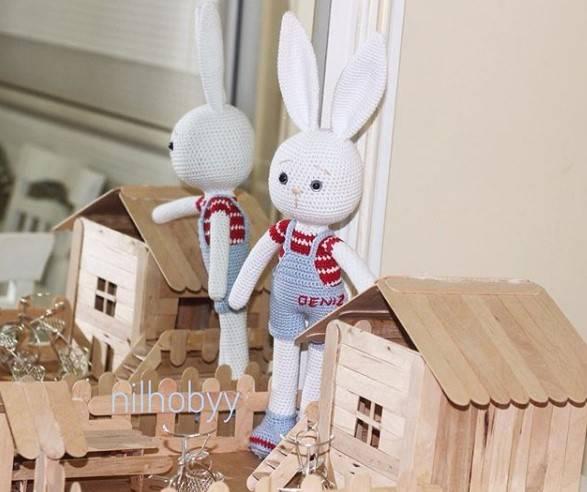 Amigurumi Erkek Tavşan Yapılışı- Amigurumi Crackers Bunny Free Pattern | 492x587
