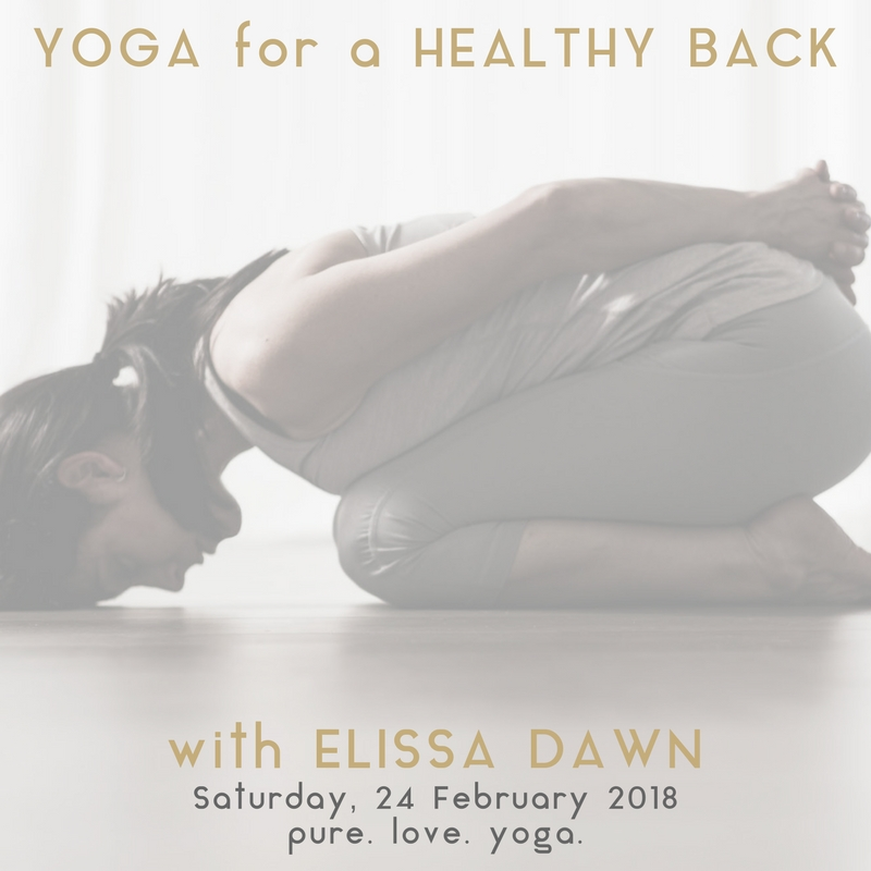 YOGA for a HEALTHY BACK with Elissa Dawn