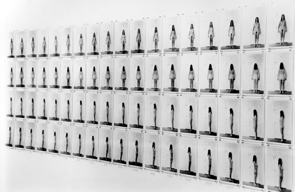 Eleanor Antin's Carving: A Traditional Sculpture, 1972. Image courtesy of the National Museum of Women in the Arts.