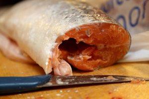 Fisch geschnitten