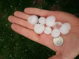 quarter sized hail