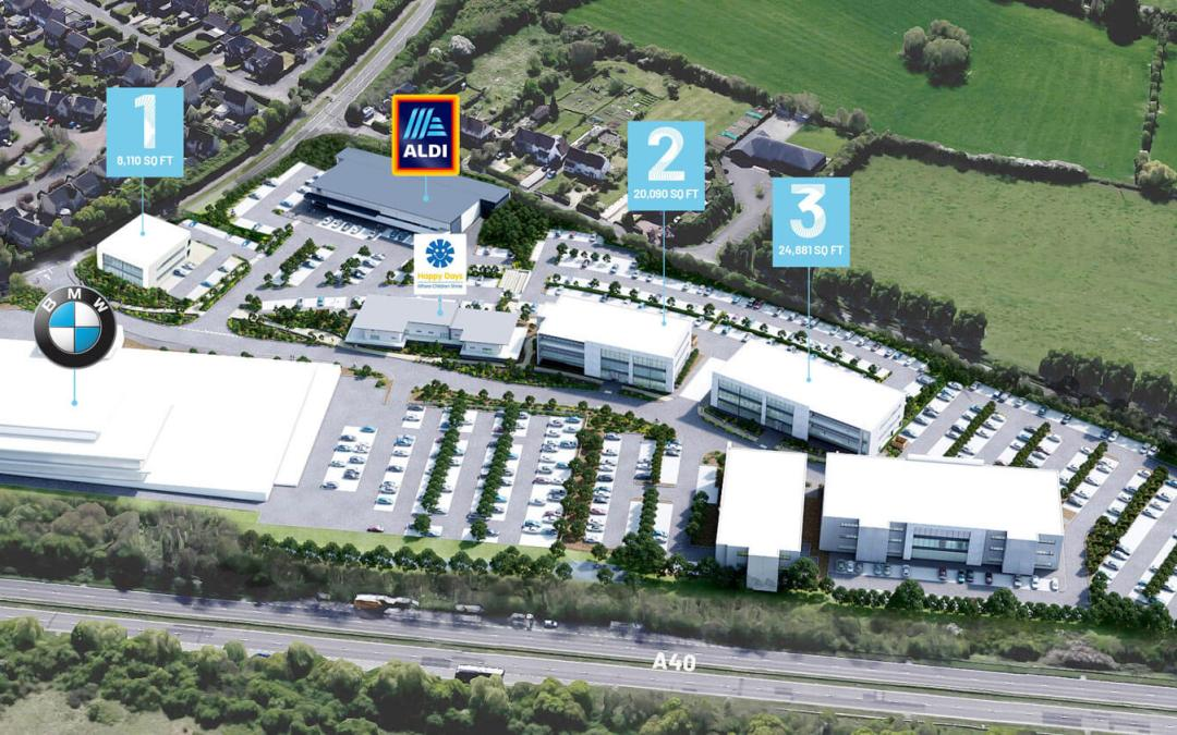 New Aldi, Costa and Happy Days Nursery in Cheltenham with Hinton Group