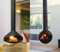 Sleek freestanding fireplaces designed by Malm ...