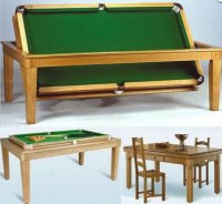 Dining Table: Billiard Table Converts Dining Table