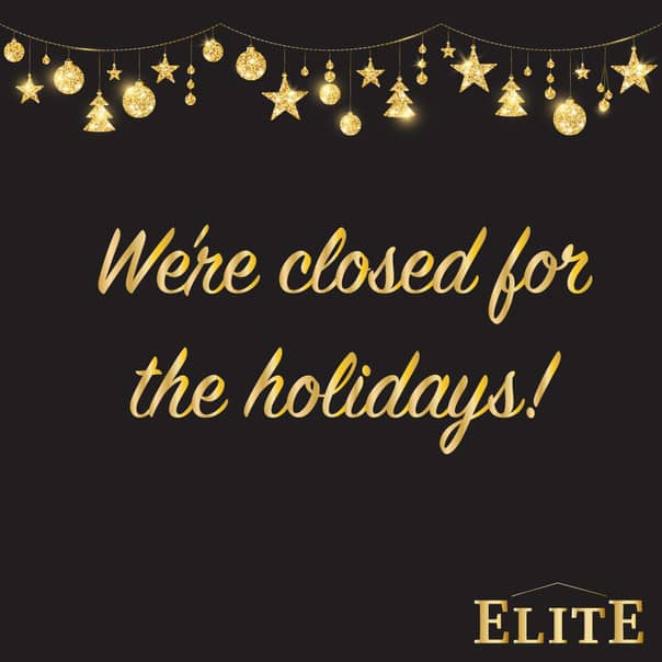 We're Closed for the Holidays