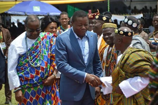 Le chef de l'Etat Faure Essozimna Gnassingbé à la fête d'Ayizan à Tsevié