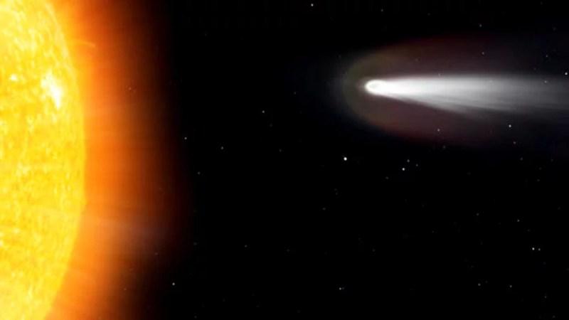 Captan un cometa vaporizándose al aproximarse al Sol