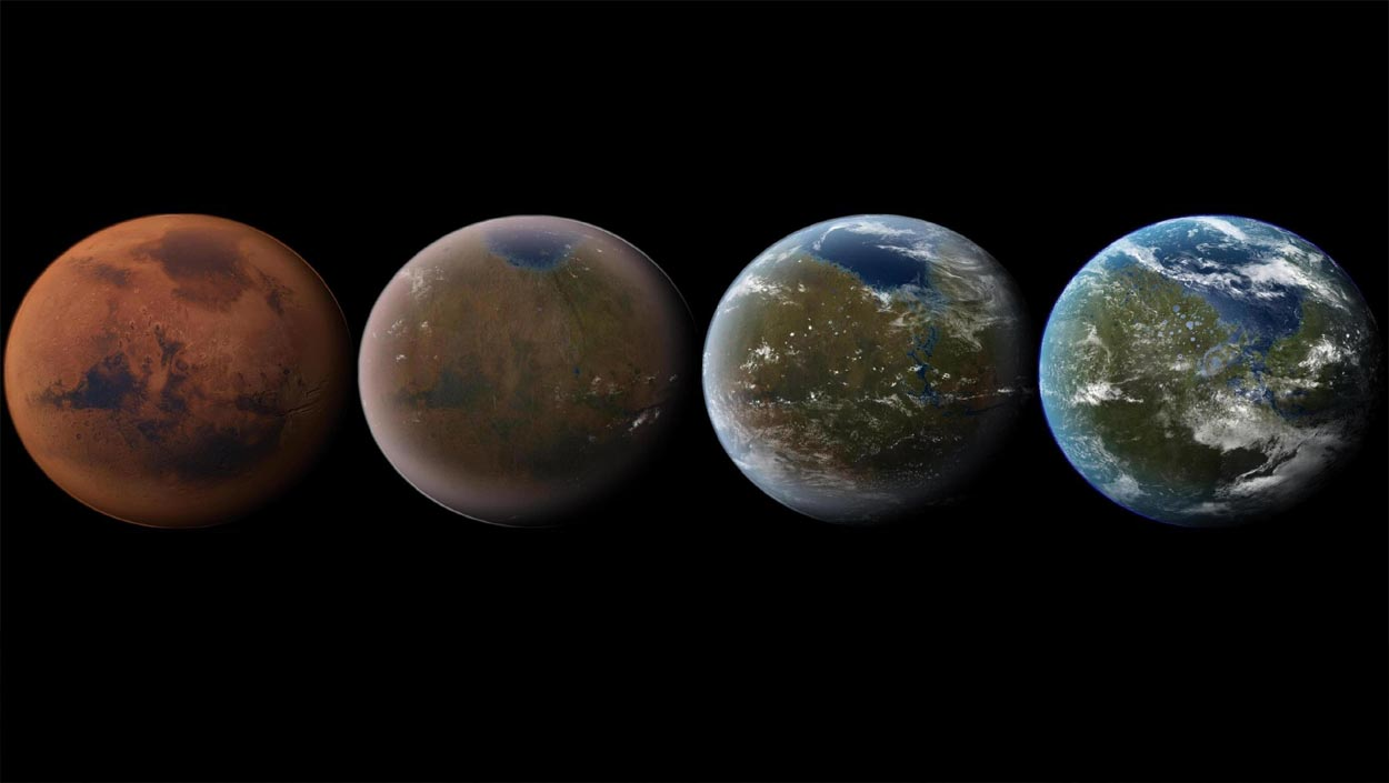 Bombas atómicas para terraformar Marte