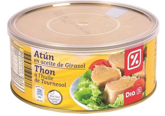 Alerta sanitaria por toxina botulínica en lata de atún de la marca DIA