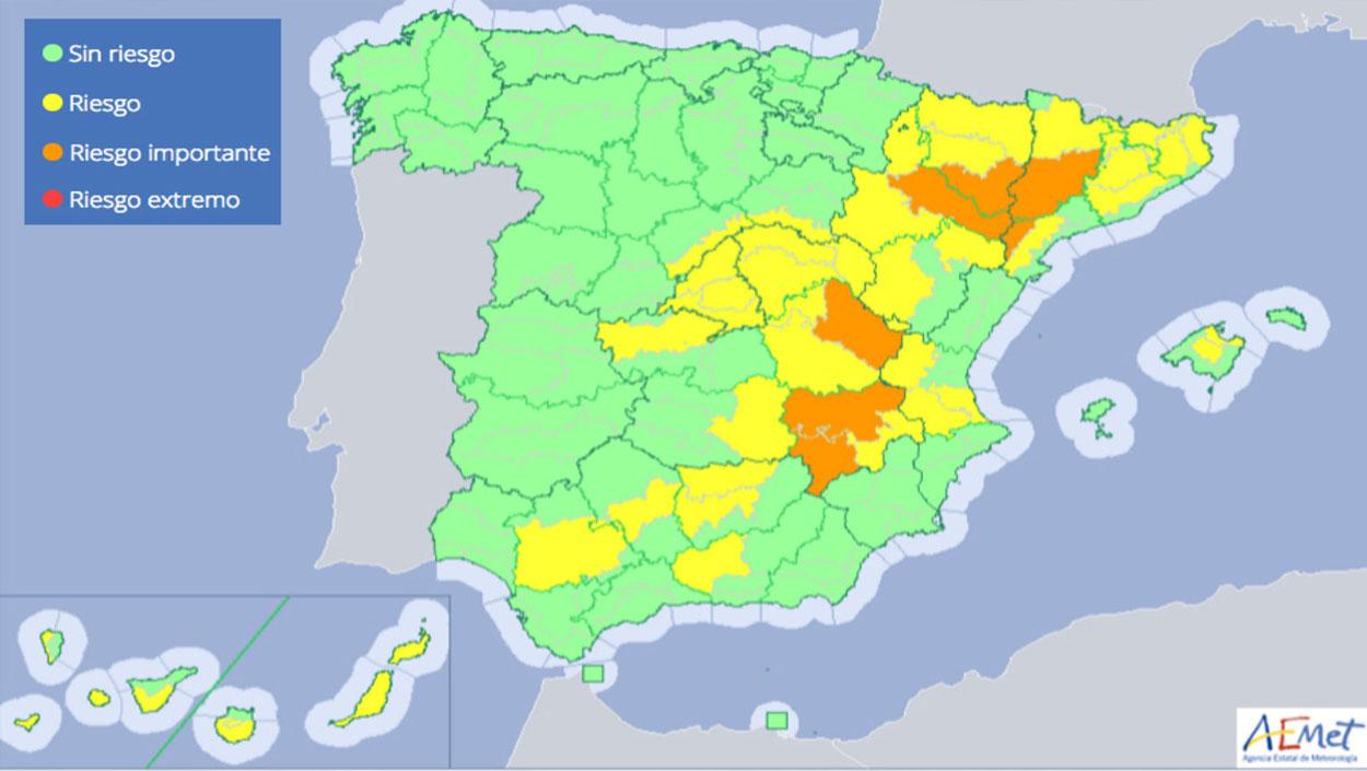Descenso de temperaturas en pleno 'Veranillo de San Miguel'