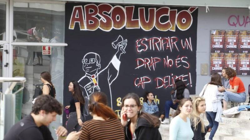 Los estudiantes catalanes se manifiestan contra la sentencia del procés