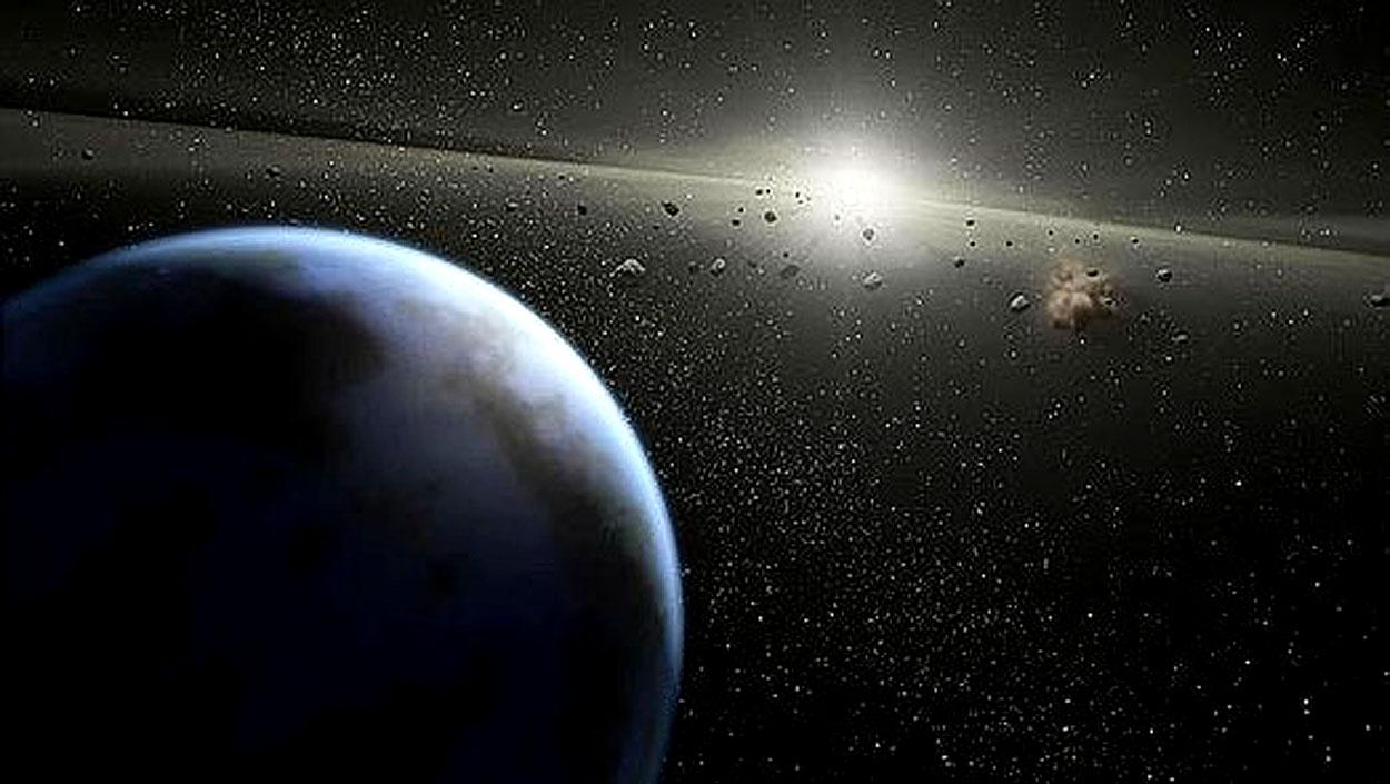Estudian el sistema solar, con planetas, más próximo a la Tierra