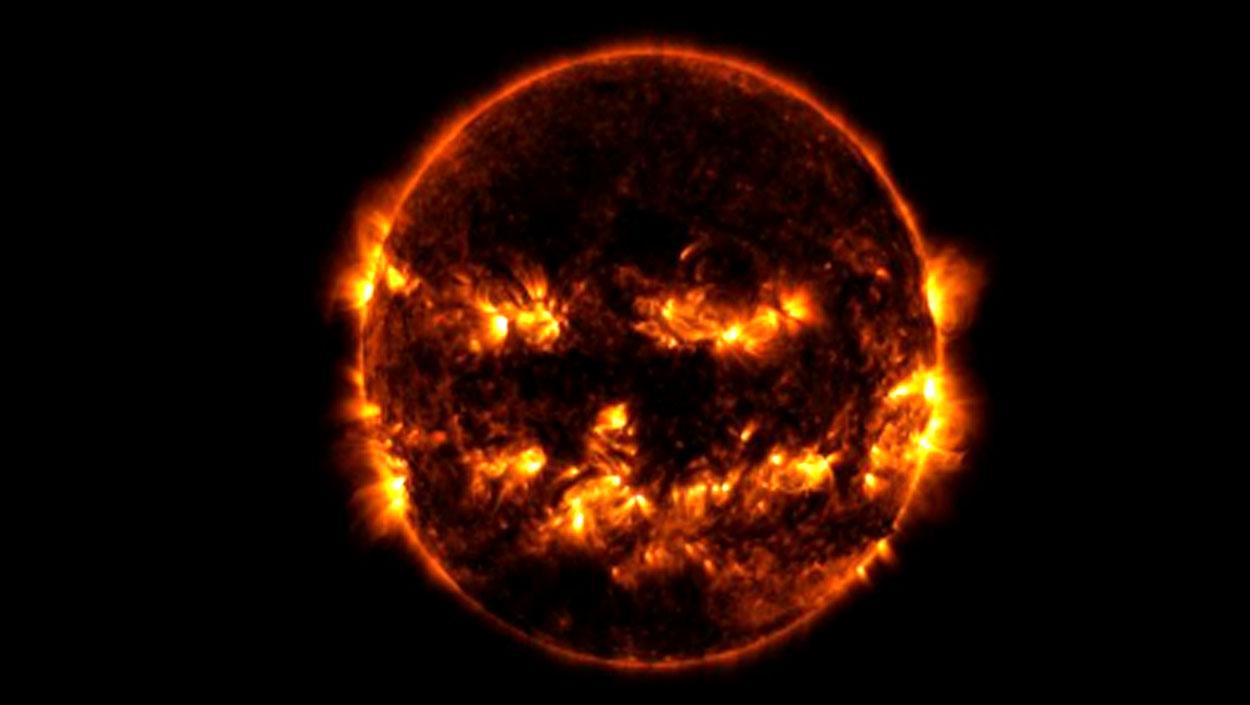 NASA sorprende con su 'Sol Calabaza' de Halloween