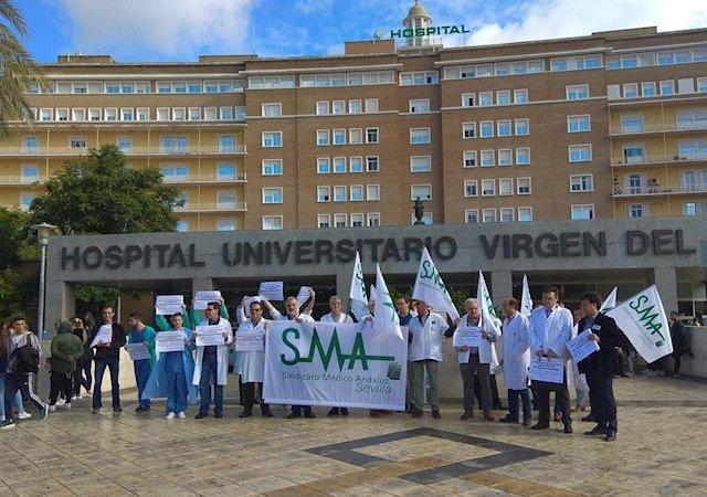 Sindicato Médico Andaluz se concentra este domingo ante San Telmo para pedir que se cumplan los compromisos con sanidad
