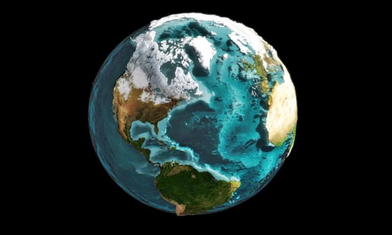 ¿Cómo sería la Tierra sin mares ni océanos?