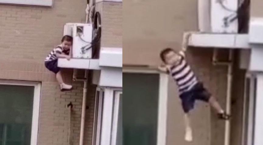 Coge al vuelo a un niño que había caído de un quinto piso