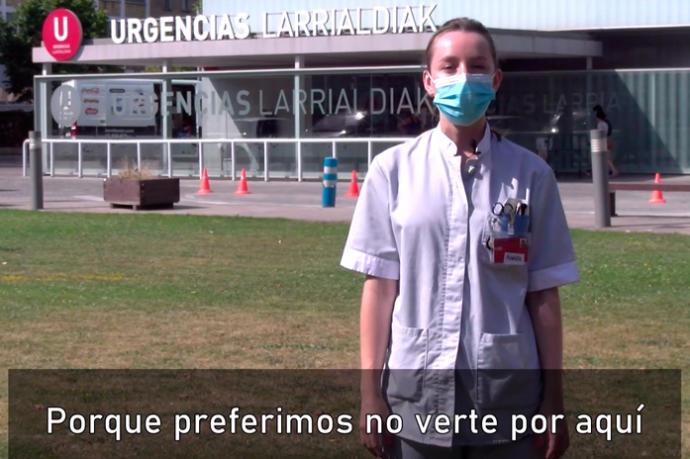 La enfermeras de Navarra piden prudencias a la juventud en un vídeo que ya es viral
