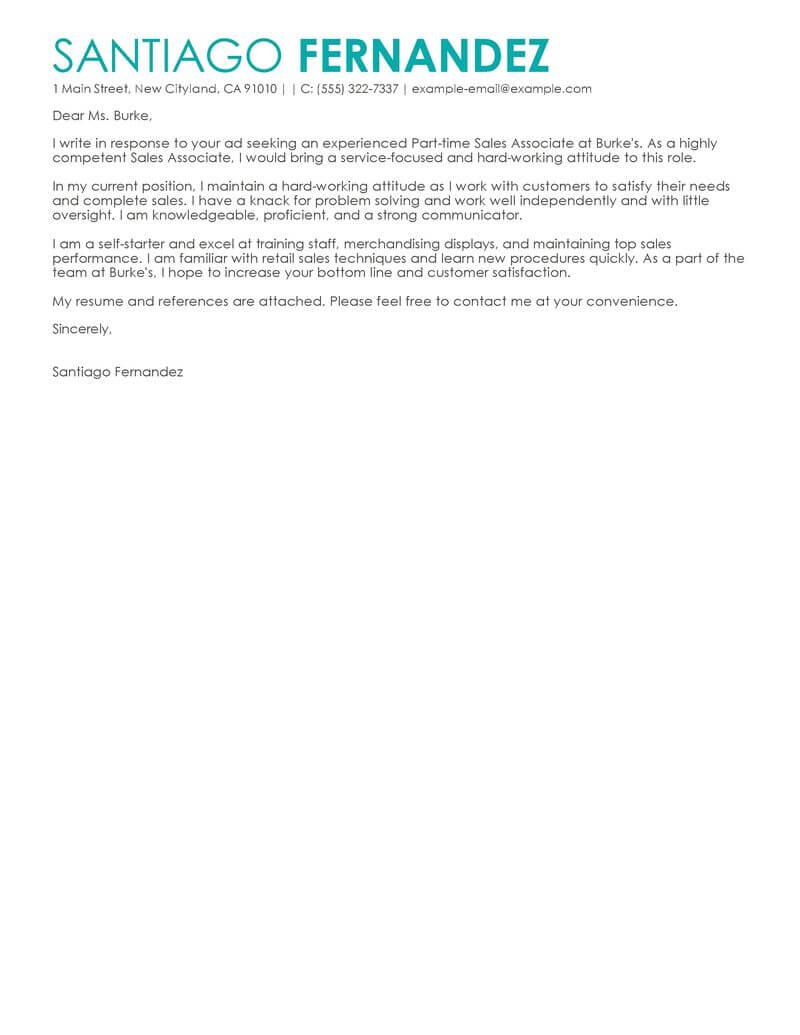 Outstanding Retail Cover Letter Examples  Templates from Trust Writing Service