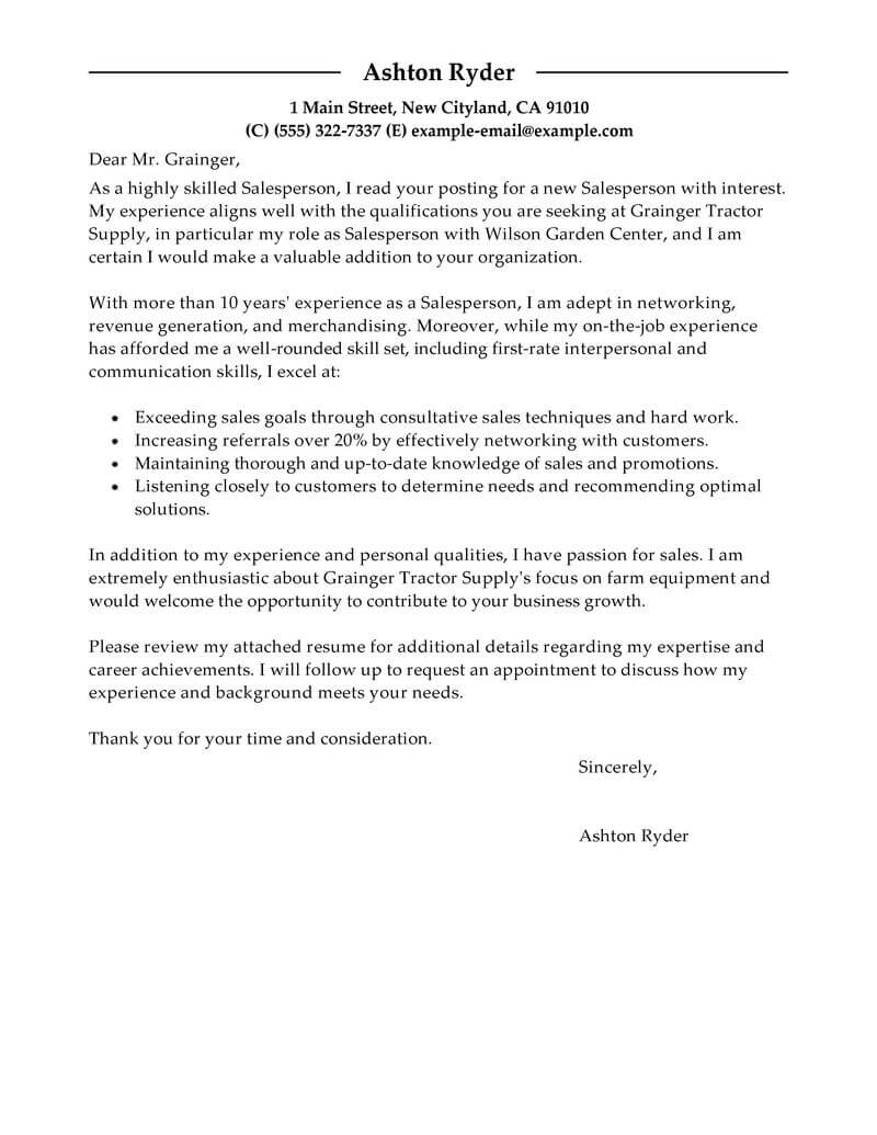 Cover Letter For Retail Outstanding Retail Cover Letter Examples Templates From Trust