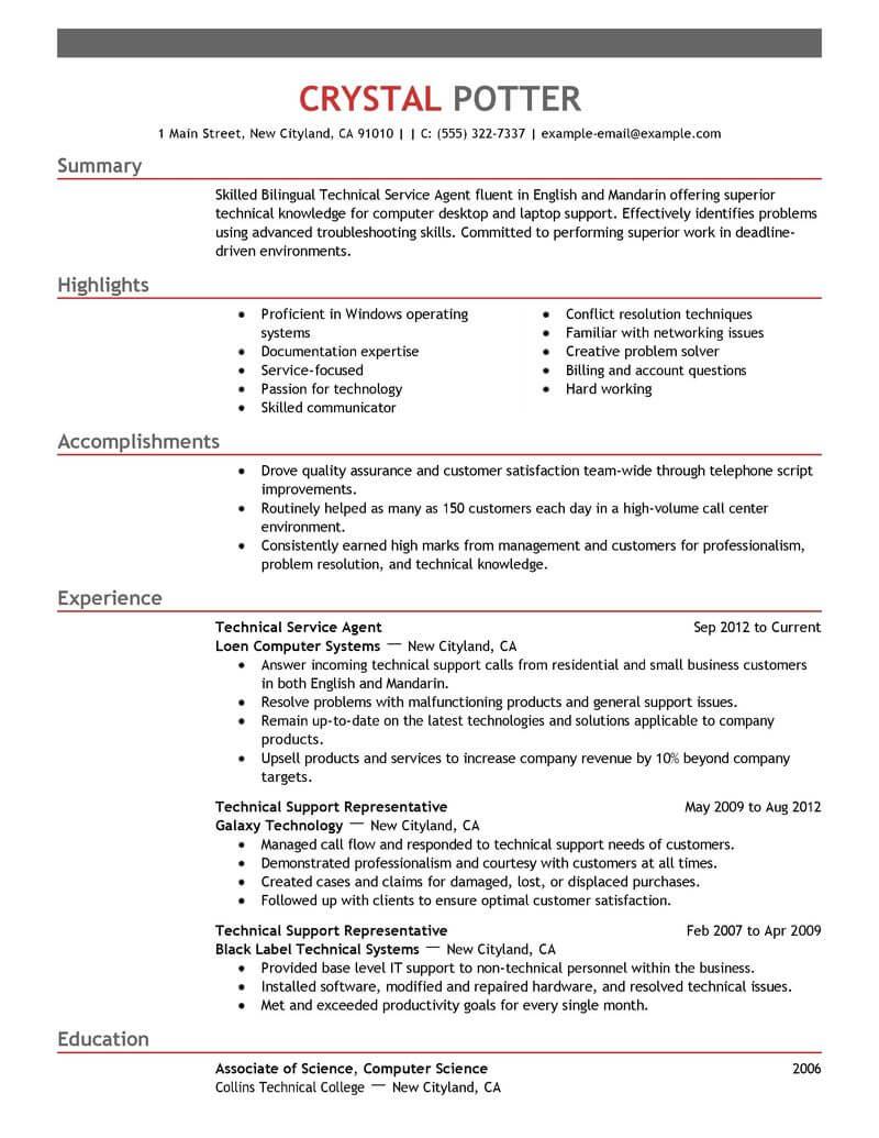 list bilingual skills resume