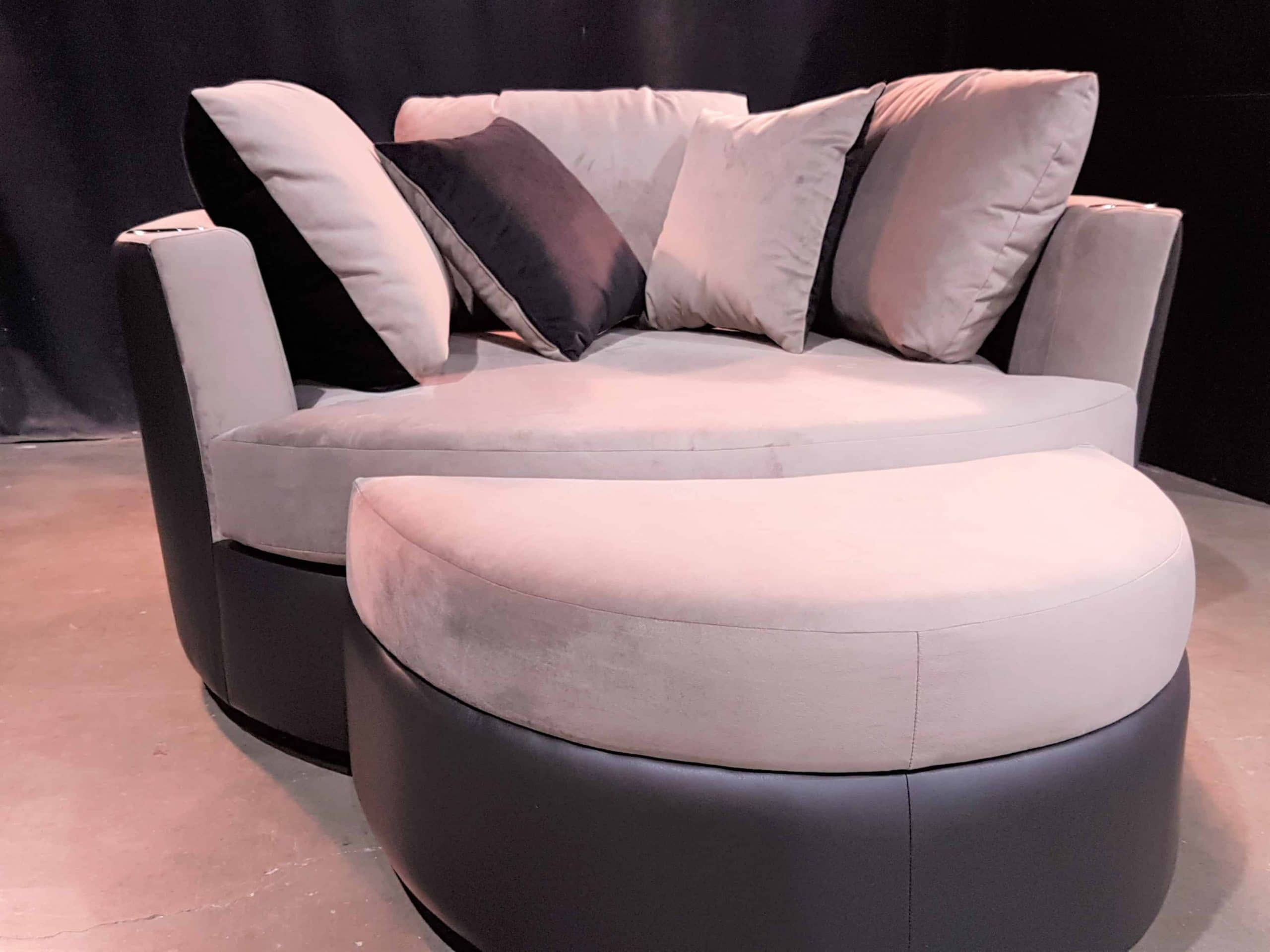 Custom Cuddle Couch  Home Theater Cuddle Sofa Chair