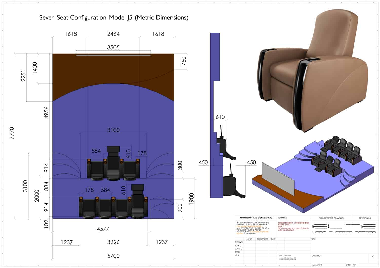2 seat theater chairs soft bean bag chair layouts elite home seating 3d render 7 seats