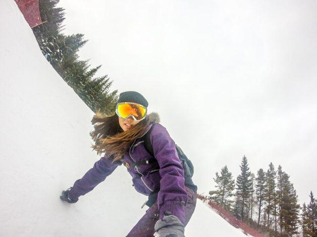 Snowboard Gopro Girl