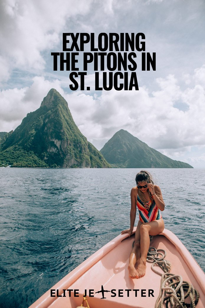 Pitons St. Lucia Pinterest Pin