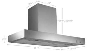 """Rectangular wall-mounted hood 36"""""""