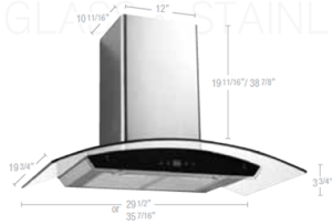 Wall-mounted hood with electronic digital touch control
