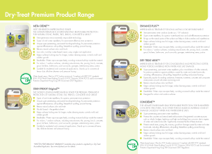 Click image to download the Dry-Treat Product Brochure