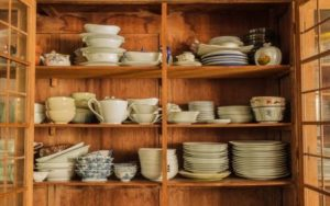 A packed cupboard