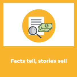 Facts tell, stories sell in the reverse invite method.