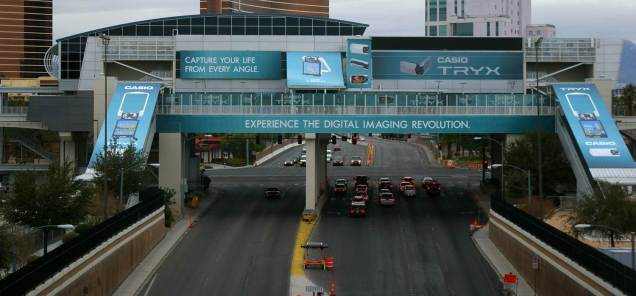 Las Vegas Monorail Convention Center Station Exterior Domination Building Wrap